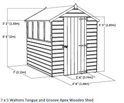 6 X 5 Apex Shed by 7 X5 Waltons Tongue And Groove Apex Garden Shed