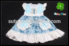 Flutter Sleeve Polka Dots Dress Baby Modern Simple Dresses For Girls Teenage Cotton Frock
