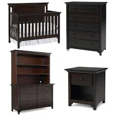Graco Espresso Dresser Furniture by Ti Amo Carino Nursery Set Convertible Crib 5 Drawer Chest Double