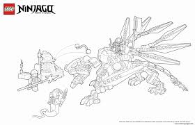 Dragon Ninjago Coloring Page Printable Download Free