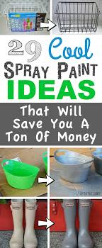 Home Decor Ideas For Cheap Lots Of Awesome And Easy DIY Spray Paint