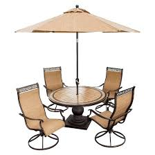 Target Patio Set With Umbrella by Hanover Outdoor Furniture Monaco 5 Piece Outdoor Dining Set With
