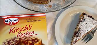 dr oetker s kirschli kuchen chocolate and cherry cake
