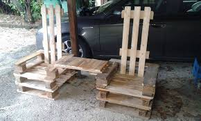 Reclaimed Rocking Chair Pallet Furniture