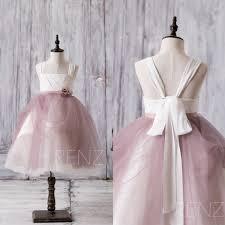 2017 white dusty rose junior bridesmaid dress square