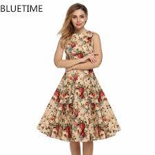 elegant vintage retro dress knee length promotion shop for