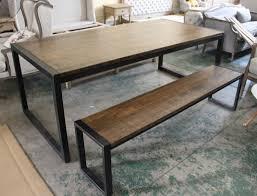 table de bureau loft meubles en bois de fer table vintage bureau banc nordic style