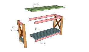 Full Image For Diy Console Table Plans Easy Building A