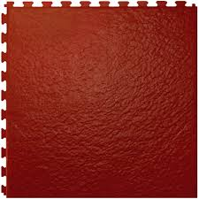 Floorageous IT Tile Slate Red Rojo