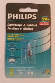philips 12 volt 20 watt halogen bulb g4 base t3 landscape cabinet