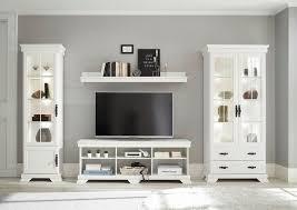 home affaire wohnzimmer set royal 4 tlg bestehend aus 2 vitrinen 1 lowboard und 1 wandregal kaufen otto