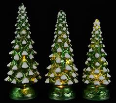 Qvc Christmas Tree Recall by Set Of 3 Lit Twinkling Mercury Glass Trees By Valerie Page 1