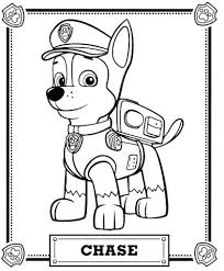 Marshall Paw Patrol Coloring Page Pages Party Ideas Of