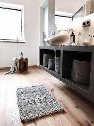 badteppich grobstrick teppich aus natur wollschnur dicker
