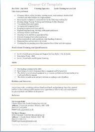 Cleaner Sample Resume