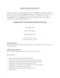 Cover Letters For Chefs Letter Chef Executive Resume Sous Sample
