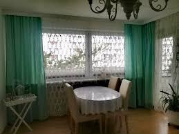 3x gardine vorhang türkis 135x245cm aus höffner neupreis 150