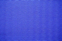 Yoga Mat Texture Blue Background Stock Photography