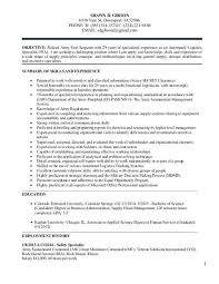 Military To Civilian Resume Examples By Mos