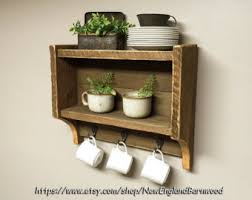Rustic Kitchen Shelf Decor Spice RackKitchen Shelves Farmhouse