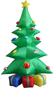 Christmas Tree Amazon Prime by Amazon Com Airblown Inflatable Christmas Tree Giant 10ft Tall By
