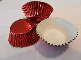 Amazon 48 Red Foil Cupcake Liners Baking Cups Standard Size