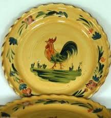 raymond waites rooster plate 10 designed for toyo trading company
