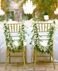 Wreath Elegant Wedding Chair Decoration Ideas