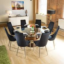 Huge Round Glass Top Walnut Dining Table + 8 Tall Black Velvet Chairs Ding Room Circular 10 Gorgeous Black Tables For Your Modern Pulaski Fniture The Art Of 7 Piece Round Table And Best Design Decoration Channel Really Inspiring Creative Idea House By John Lewis Enzo 2 Seater Glass Marble Kitchen Sets For 6 Solid Wood Island Mahogany Zef Set Kitchens Sink Iconic 5 Deco Double Xback Antique Grey Stone 45 X 63 Extra Large White Corian Top Chairs 278 Rooms With Plants Minimalists Living
