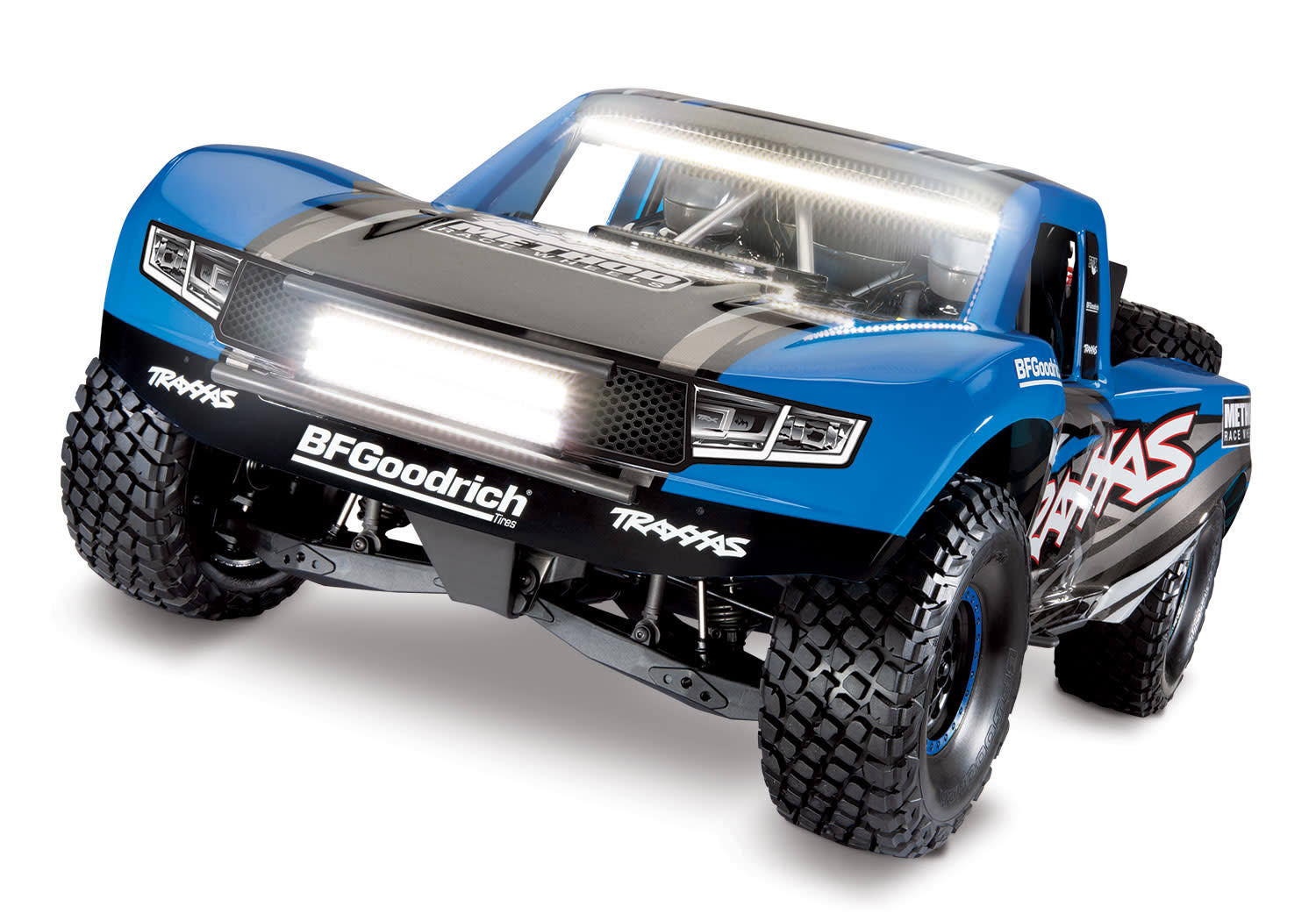 Traxxas 1/10 4WD RTR Unlimited Desert Racer w/Lights: Blue
