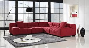 Curved Floor Lamp Next by Living Room Minimalist Living Room With Large Red Sectional