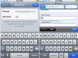 Fill Forms From iPhone Using Keyboard Shortcuts