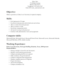 Resume Examples For Secretary Objectives Amazing Format Good Resumes Example