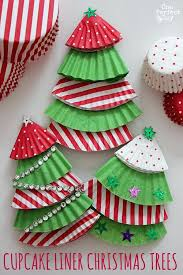 Easy And Fun Craft Ideas For Kids Christmas Cupcake Liner Tree Ornaments Toddlers Pictures