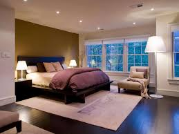 Traditional Bedroom Designed With Recessed Lighting And Bedside