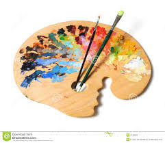Artist S Palette And Brushes