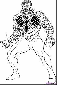Superb Spider Man And Venom Coloring Pages With Spiderman Color Print