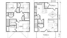 American Foursquare Floor Plans Modern by American Foursquarese Plans Modern Design Style Small Side By