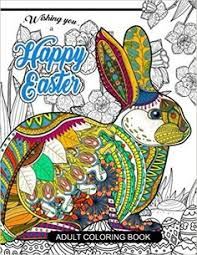 Happy Easter Adult Coloring Book Rabbit And Egg Designs For Adults Teens Kids