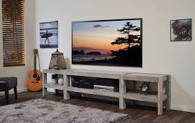 Coffee Tables Coastal Gray Beach House Tv Stand Entertainment Center Pallet Wood Style Barn Presearth