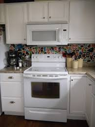 kitchen painted white kitchen cabinets with white appliances