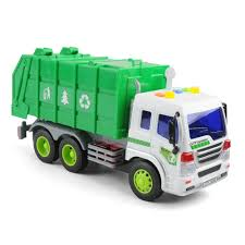LARGE 1/16 GARBAGE Truck Bin Lorry Light & Sound Rubbish Recycling ...