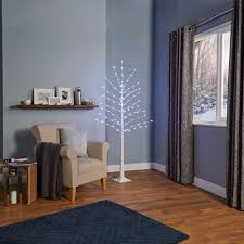 6ft Pre Lit Christmas Tree Bq by 6ft Aalen White Pre Lit Led Christmas Tree Departments Diy At B U0026q
