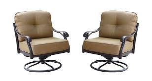 Darlee Patio Furniture Quality by Amazon Com Darlee Nassau Cast Aluminum Swivel Rocker Club Chair