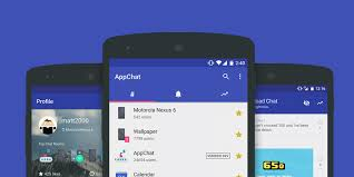 appchat has chat rooms for all your android apps where you can
