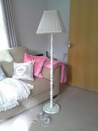 Old And Vintage Shabby Chic Floor Lamp Made From Reclaimed Wood