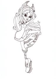 Free Printable Monster High Lagoona Blue Dance Class Coloring Sheet