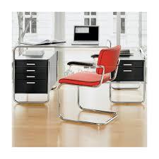 bureau design noir laqué bureau design s285 2 blocs 5 tiroirs thonet noir laqué