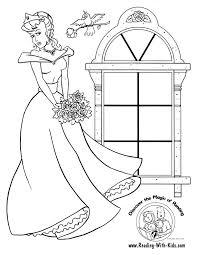Princess Coloring Page Vampire Halloween