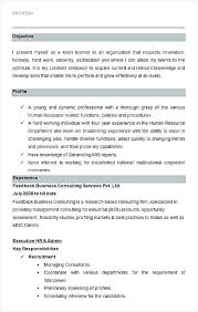 Resume Of Hr Manager Executive And Admin Sample